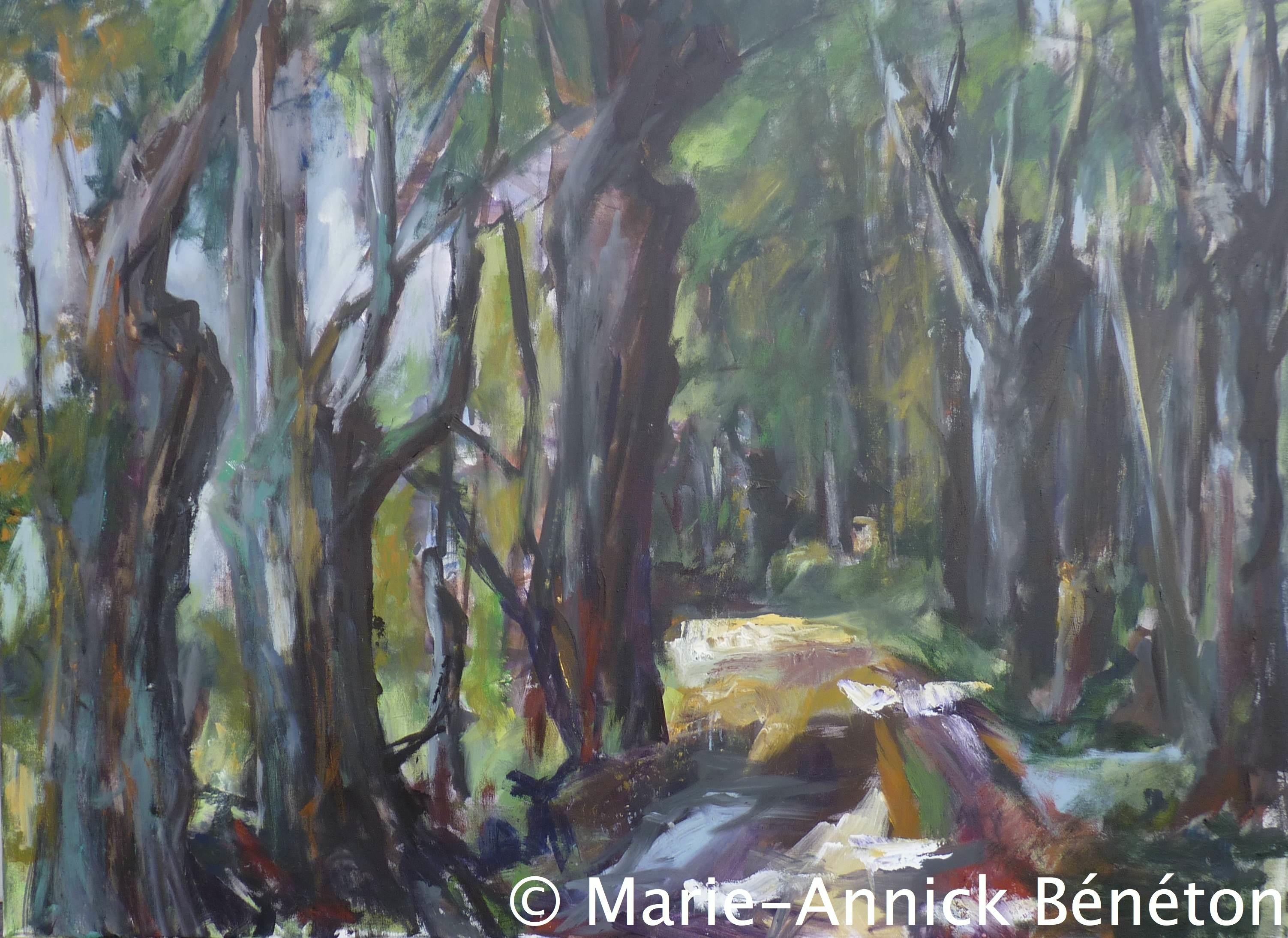 Paysage #4 - Lisière du bois - Acrylique sur toile - H70 cm * L100 cm