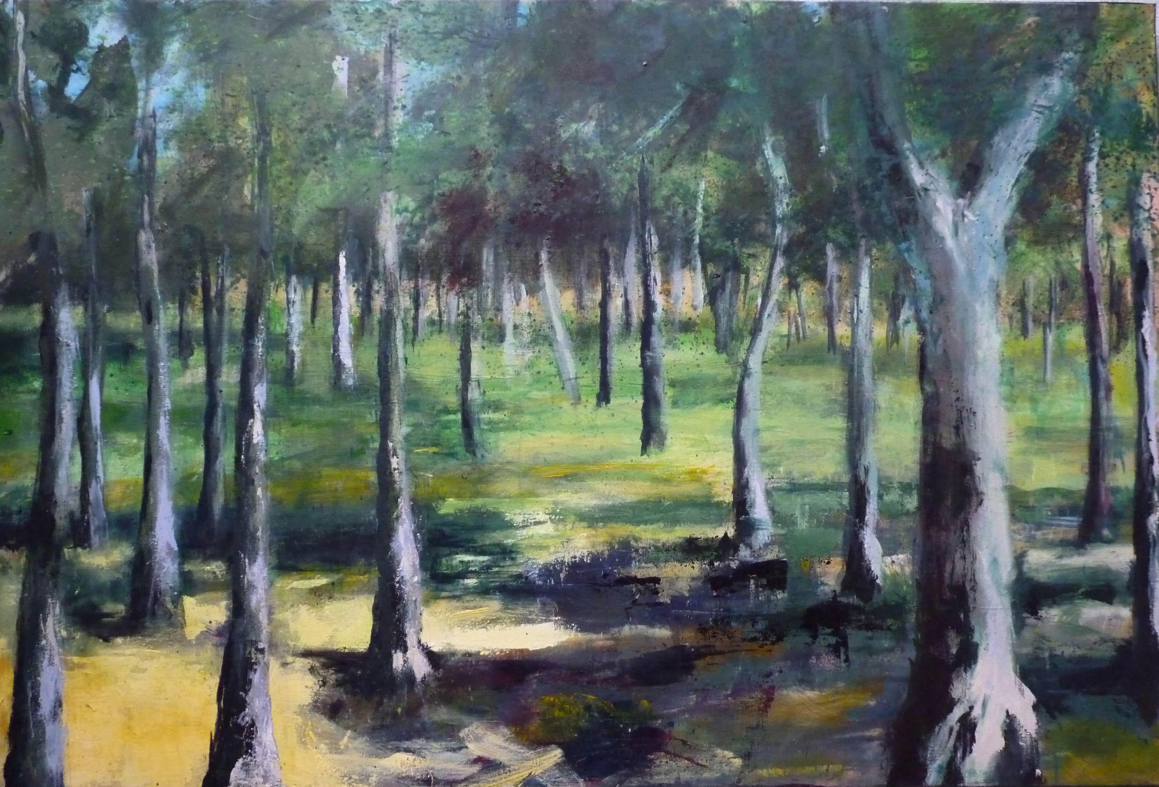 Paysage #6 - Forêt mystérieuse - Acrylique sur toile - H100 cm * L150 cm