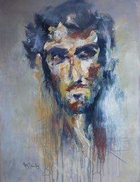 David - Acrylique sur papier - 100-70cm