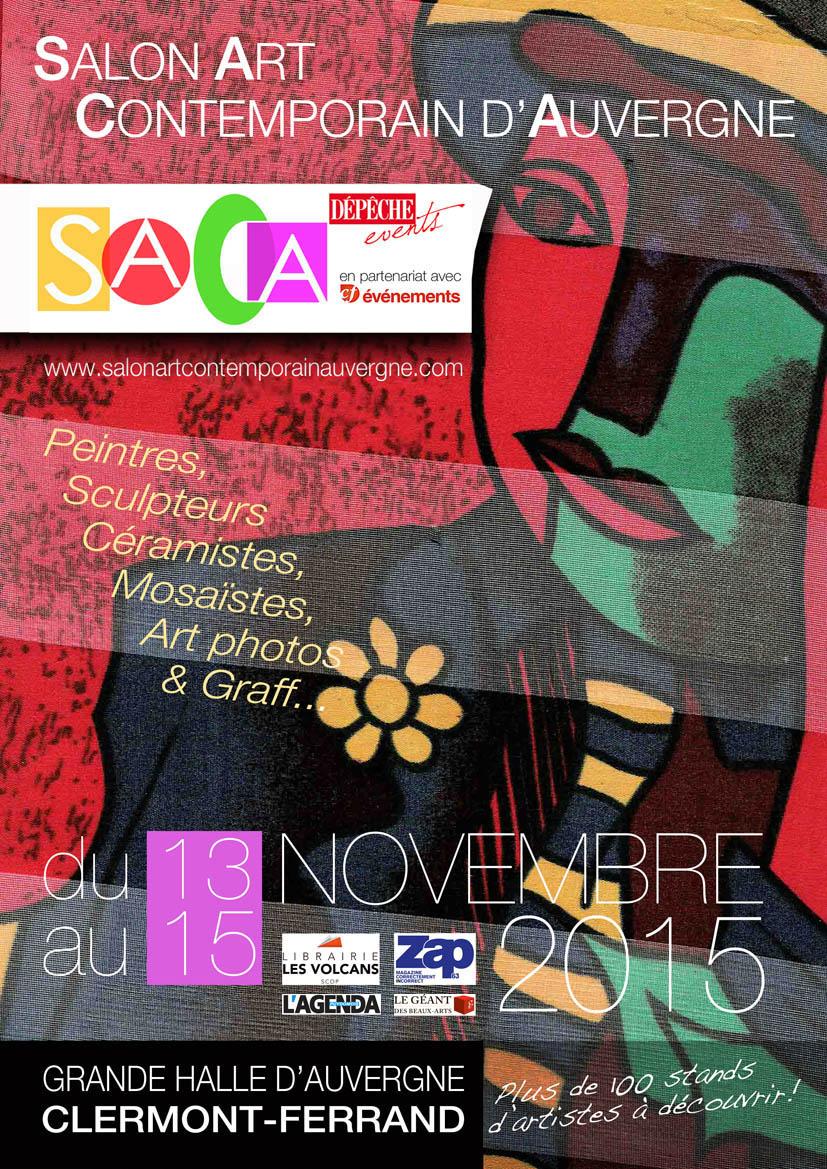 Affiche du SACA, le premier Salon d'Art Contemporain d'Auvergne