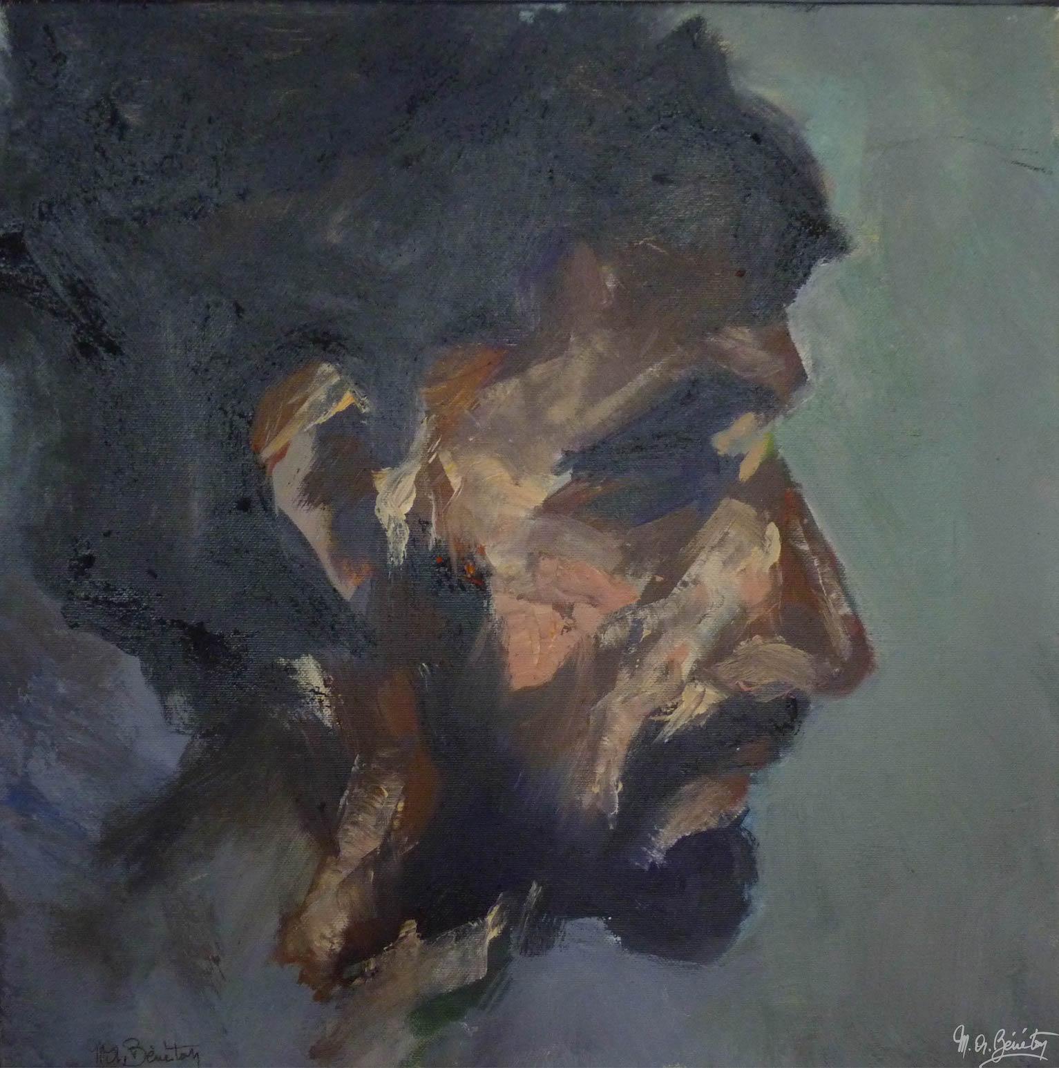 Portrait #37 – / – Acrylique sur toile – H50 cm * L50 cm