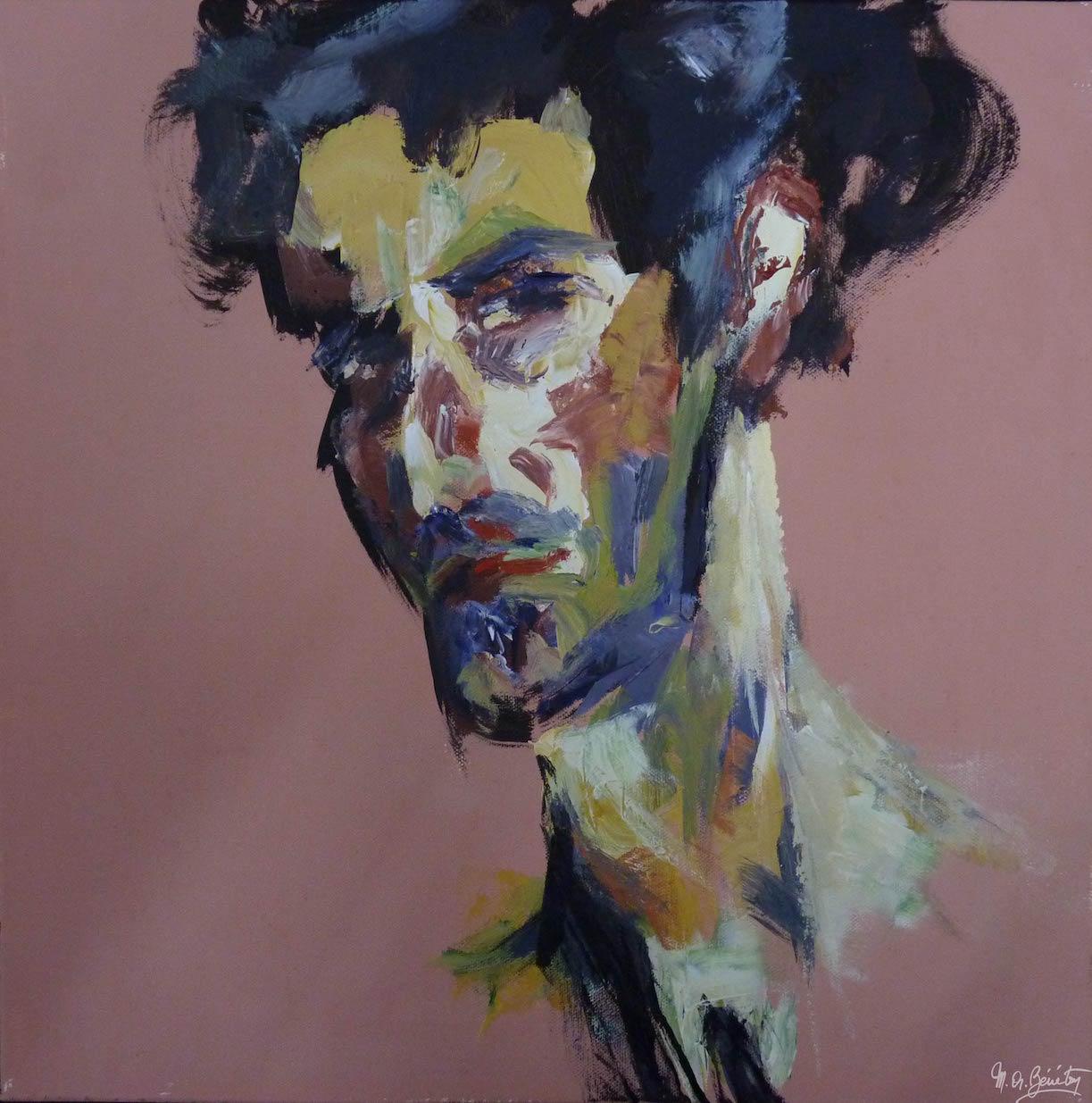 Portrait #39 – / – Acrylique sur toile – H50 cm * L50 cm