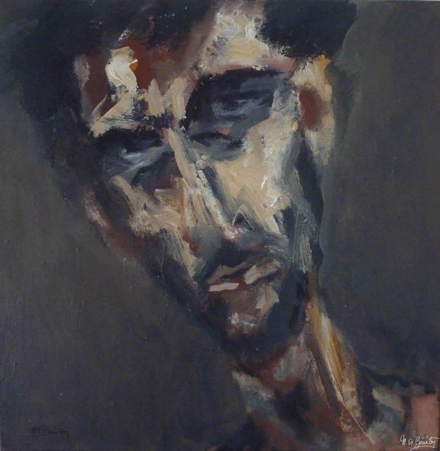 Portrait #40 – / – Acrylique sur toile – H50 cm * L50 cm