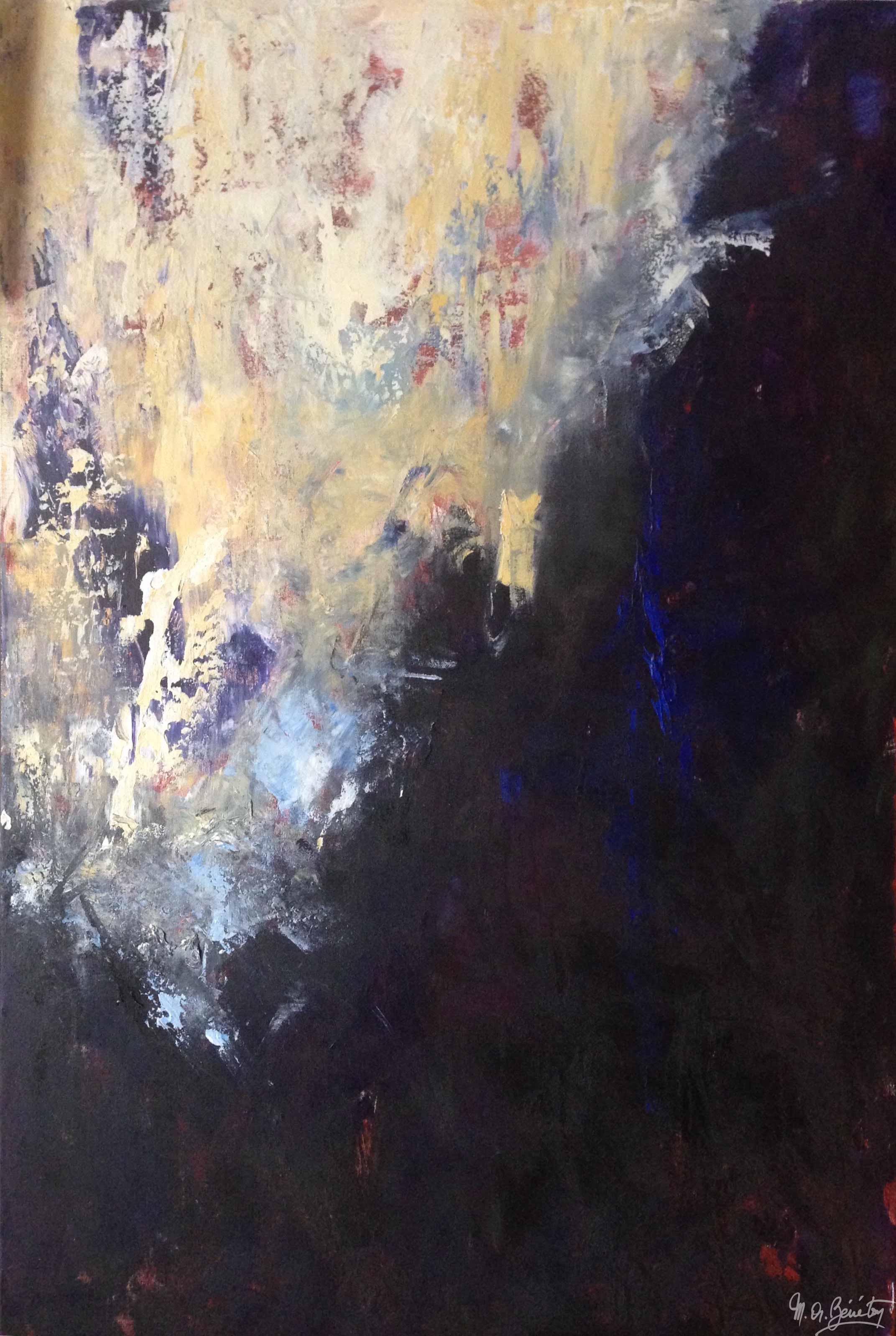 Abstrait #15 - Acrylique sur toile - H150 cm * L100 cm