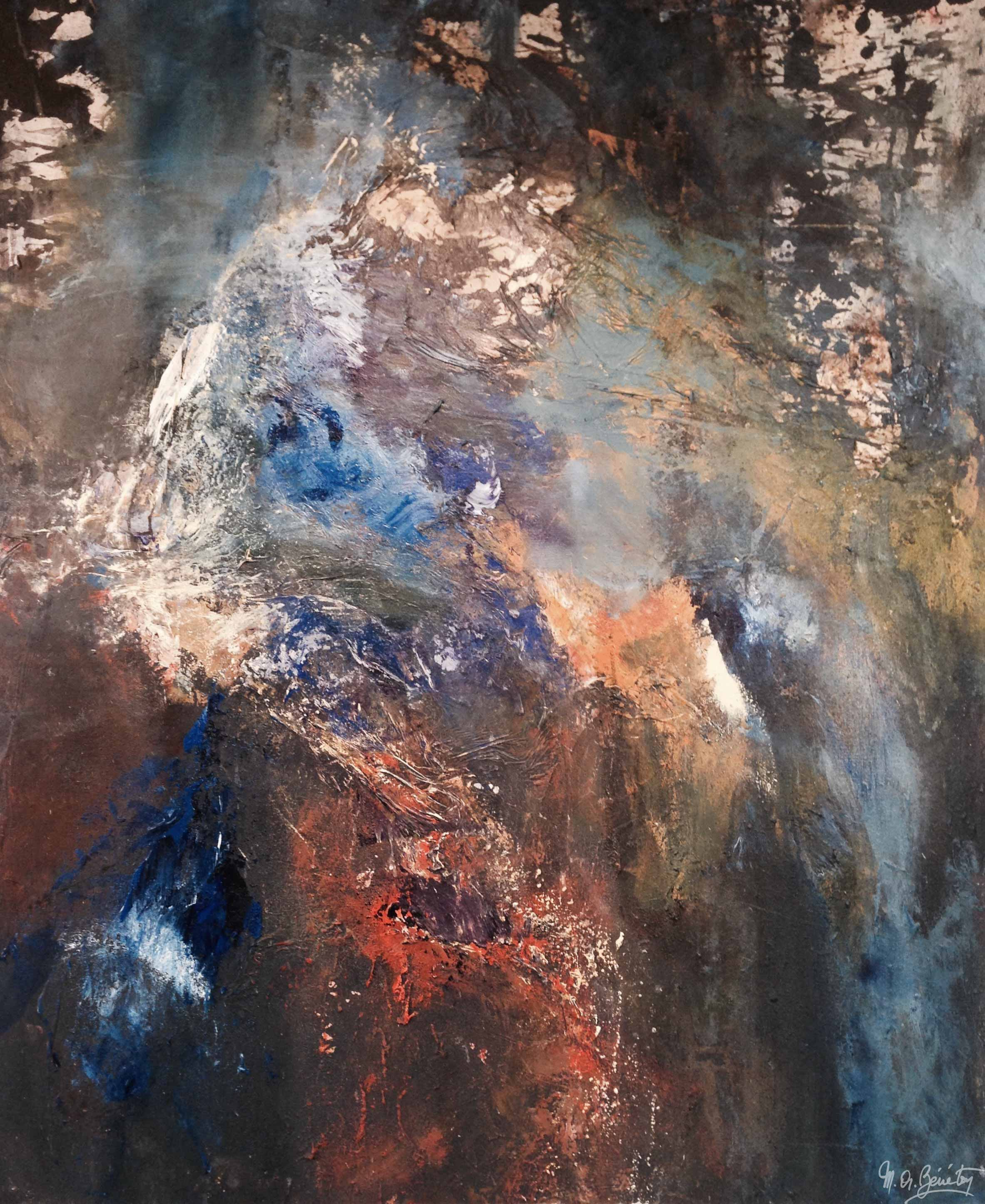 Abstrait #20 - Acrylique sur toile - H120 cm * L100 cm