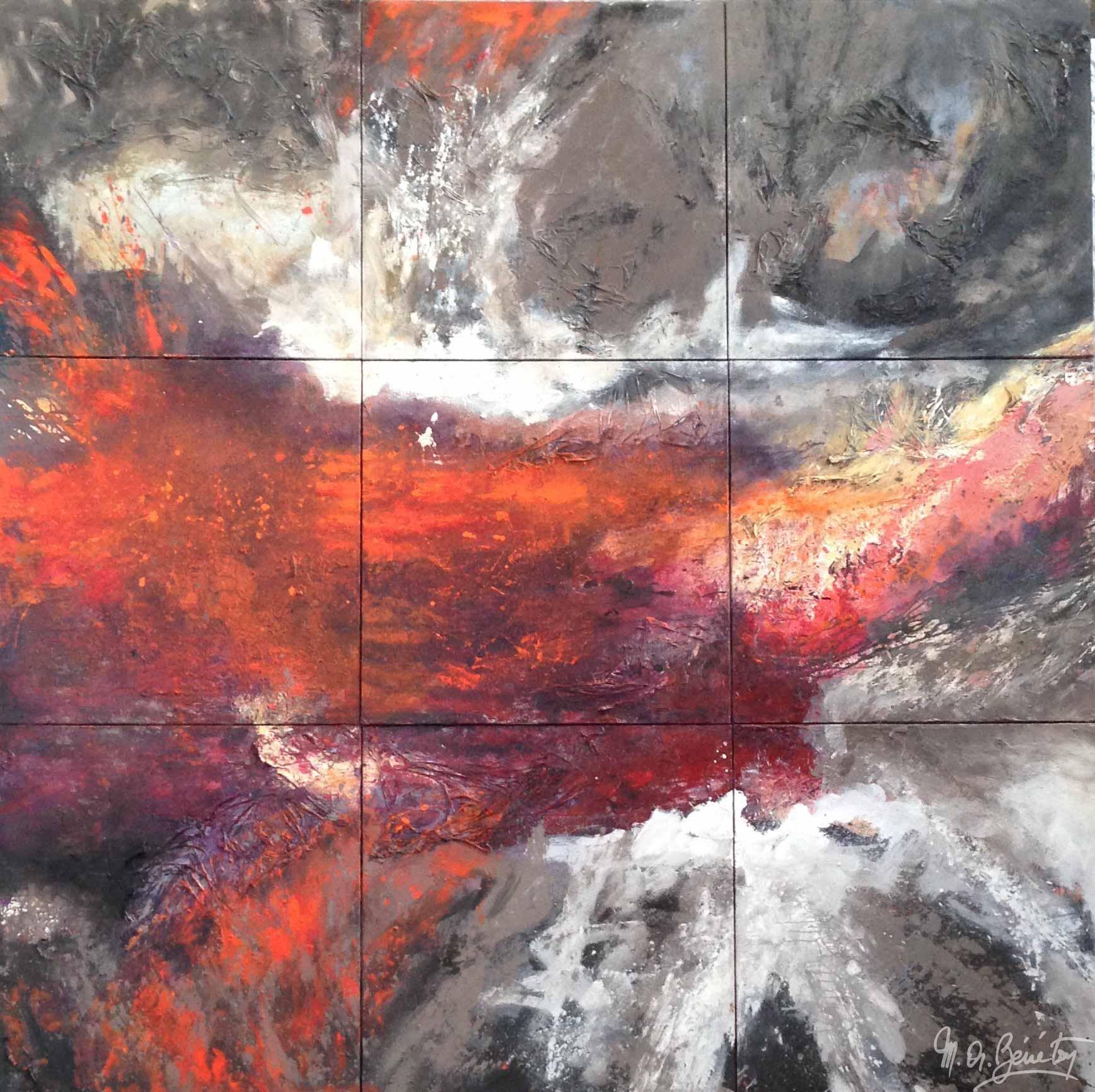 Abstrait #24 - Acrylique sur toile - H300 cm * L300 cm