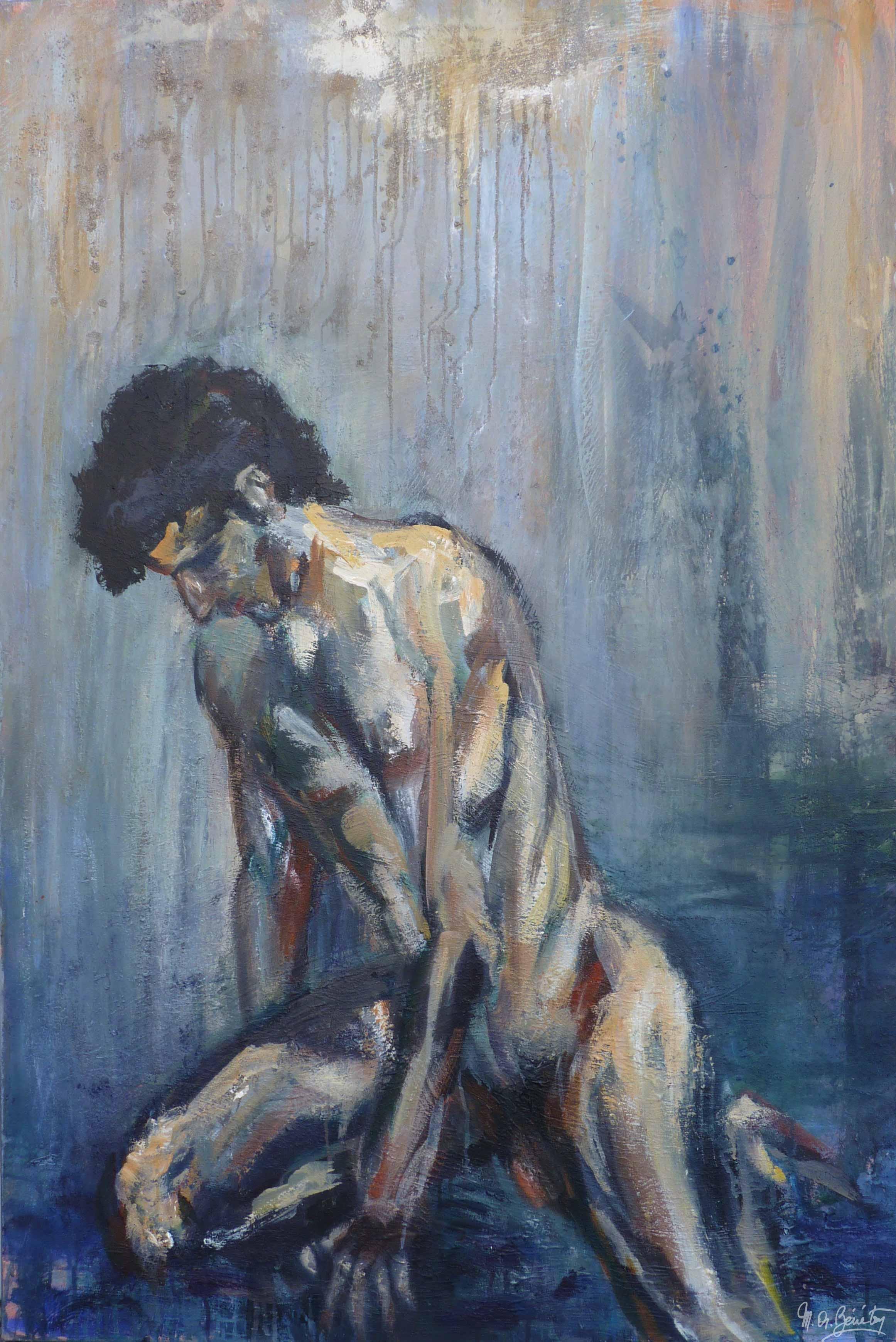 Homme nu #4 - Acrylique sur toile - H150 cm * L100 cm