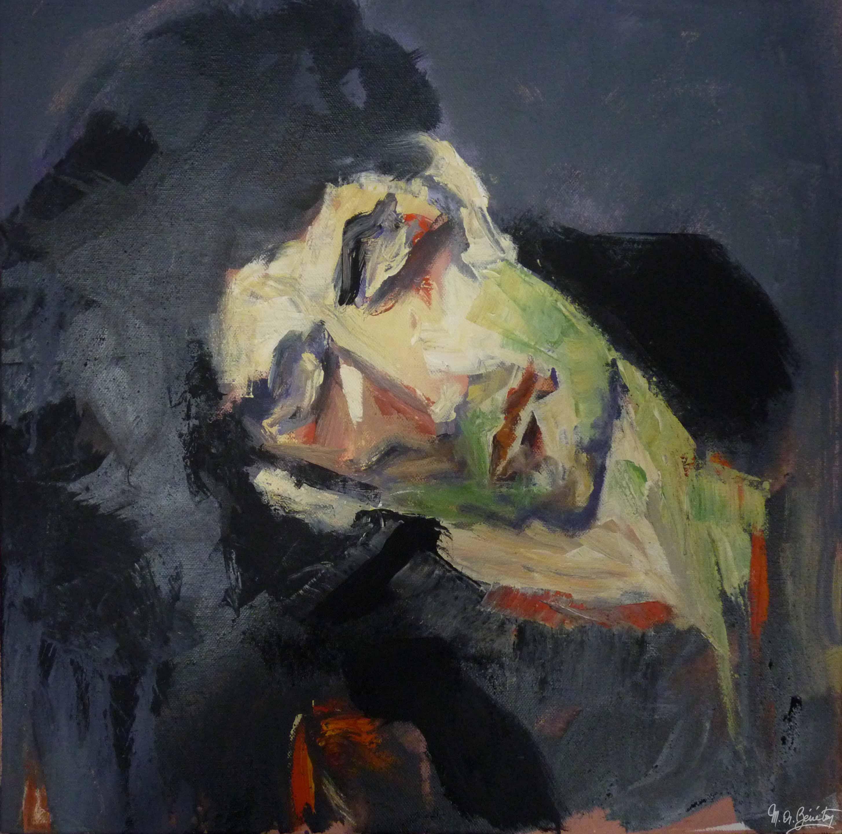 Portrait #1 - Acrylique sur toile - H50 cm * L50 cm