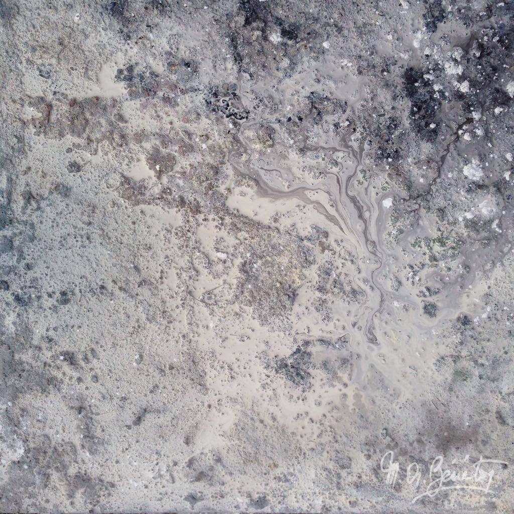 Abstrait #34 - Technique mixte sur toile - H60 cm * L60 cm