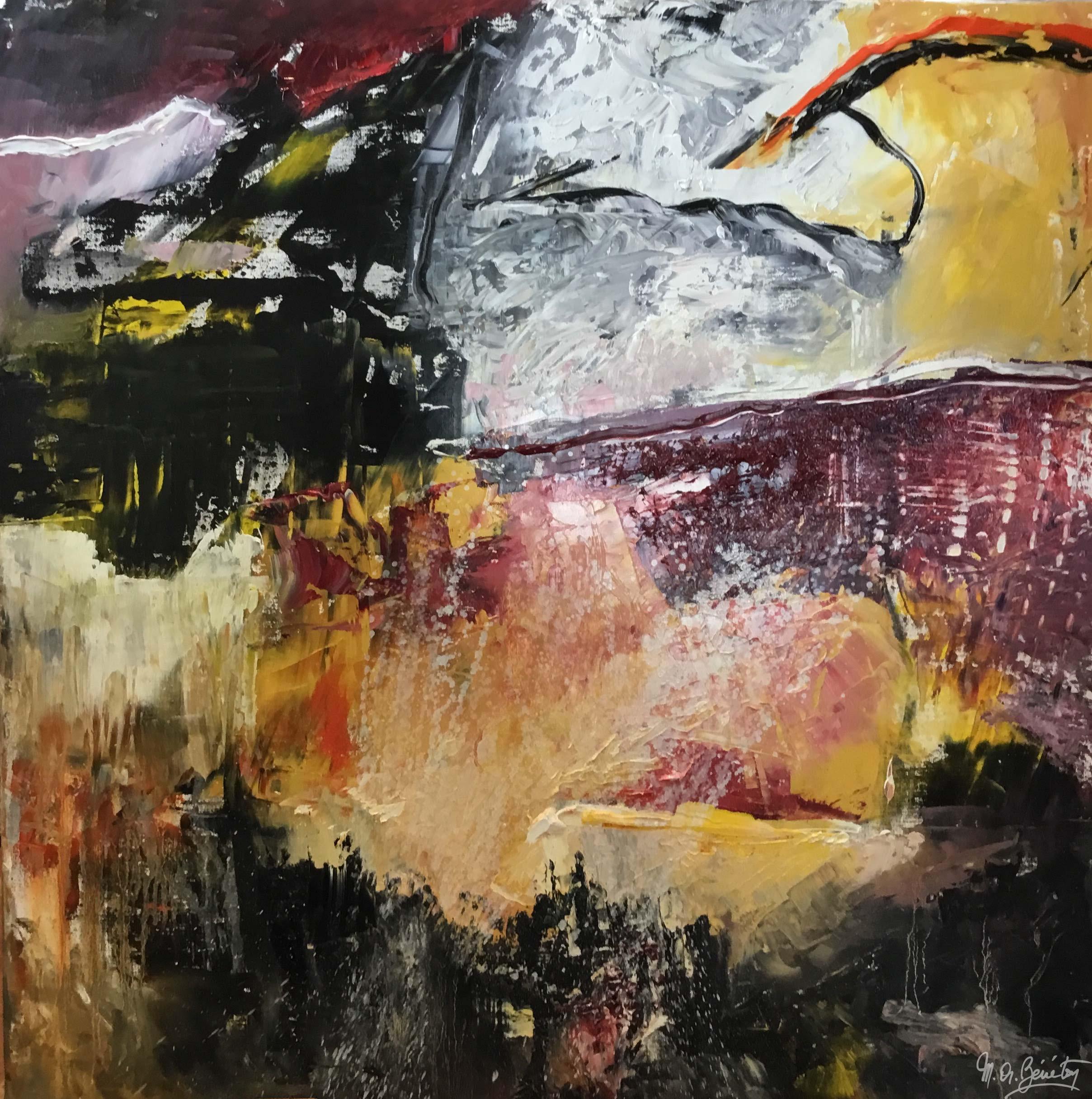 Abstrait #37 - Huile sur toile - H100 cm * L100 cm
