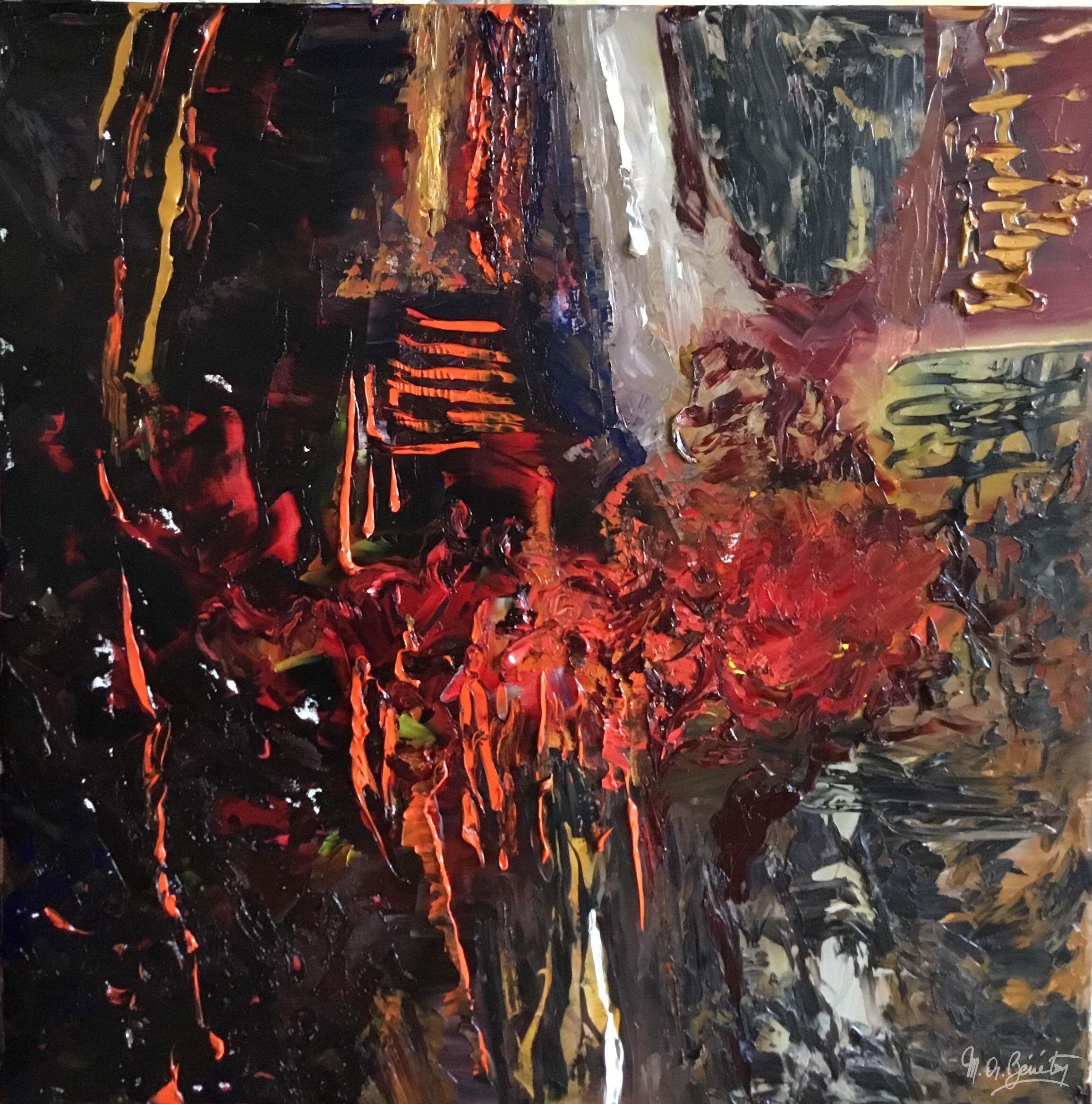 Abstrait #40 - Huile sur toile - H100 cm * L100 cm