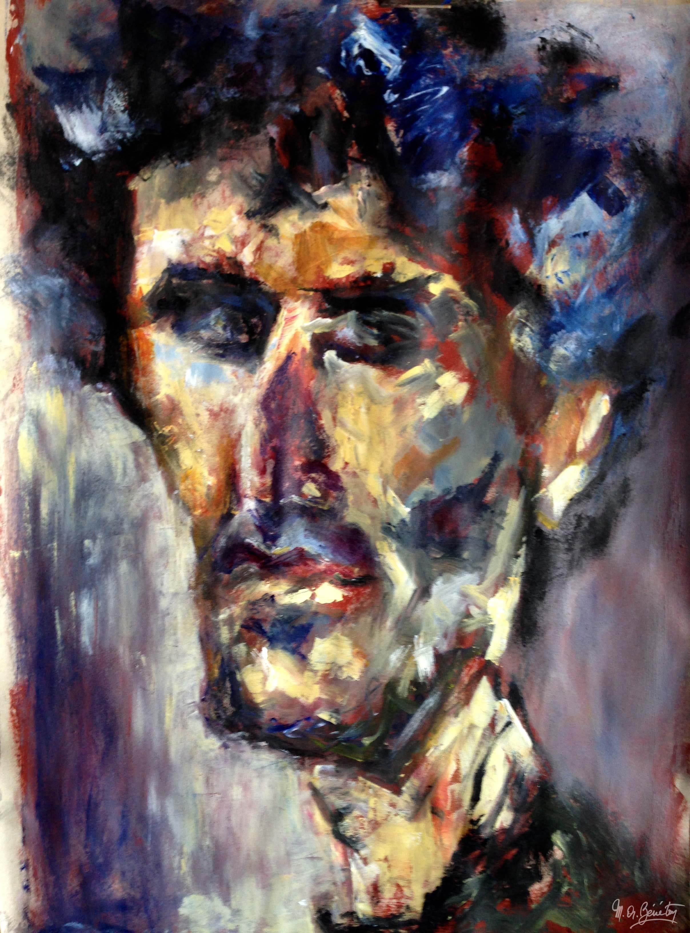 Portrait #15 - Acrylique sur papier - H110 cm * L80 cm