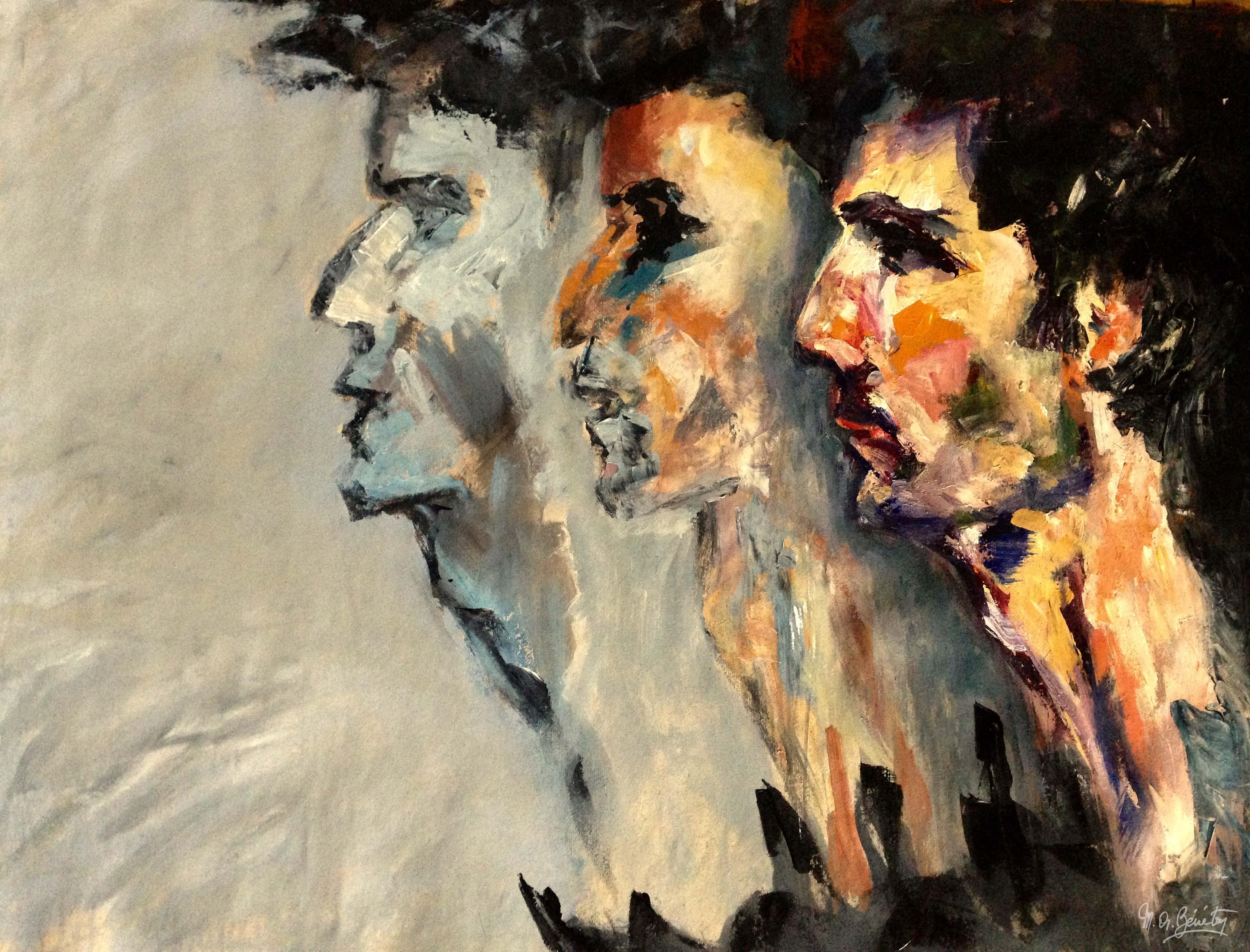 Portrait #12 - Acrylique sur toile - H100 cm * L80 cm