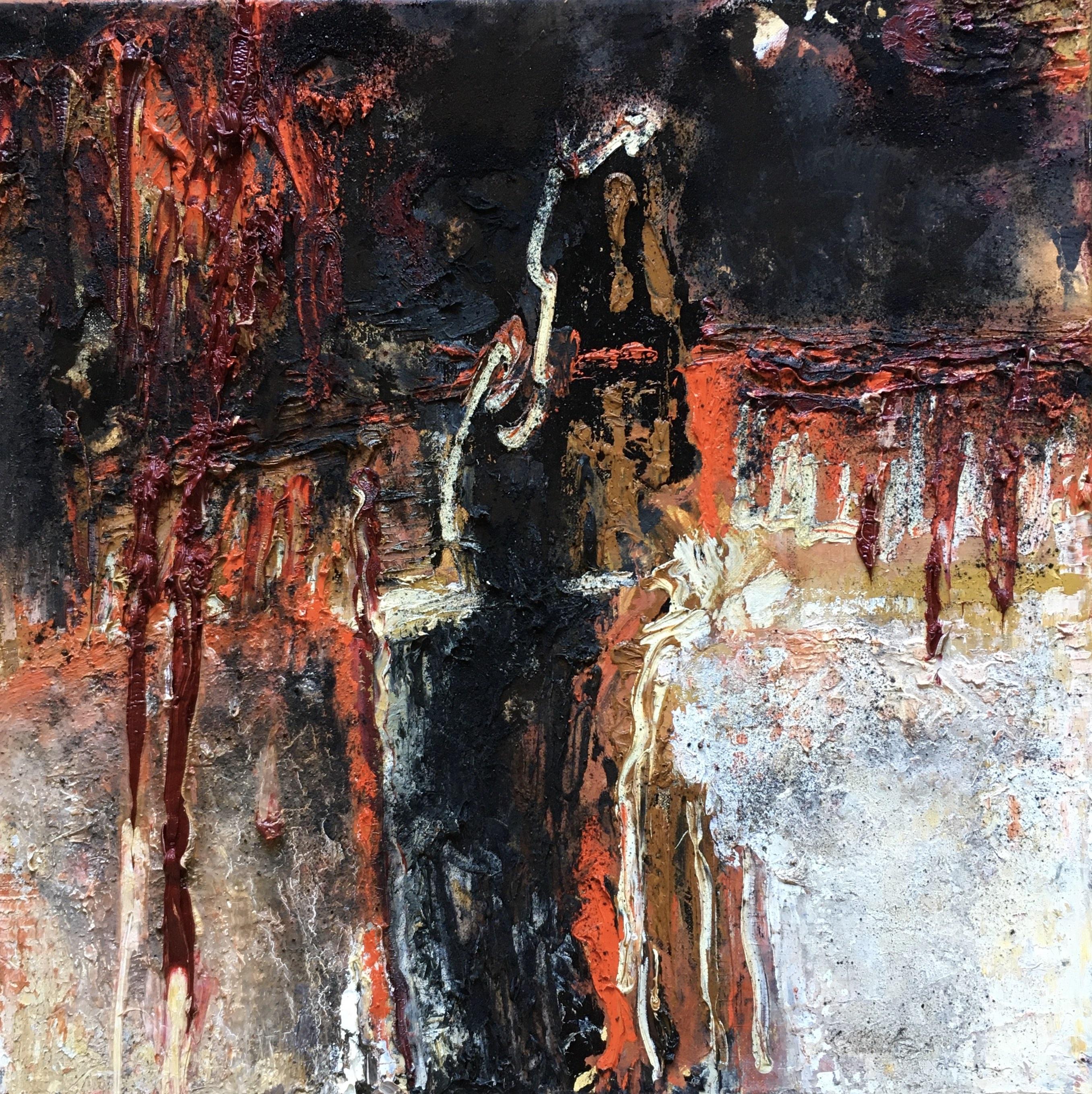 Abstrait #43 – Huile sur toile – H40 cm * L40 cm