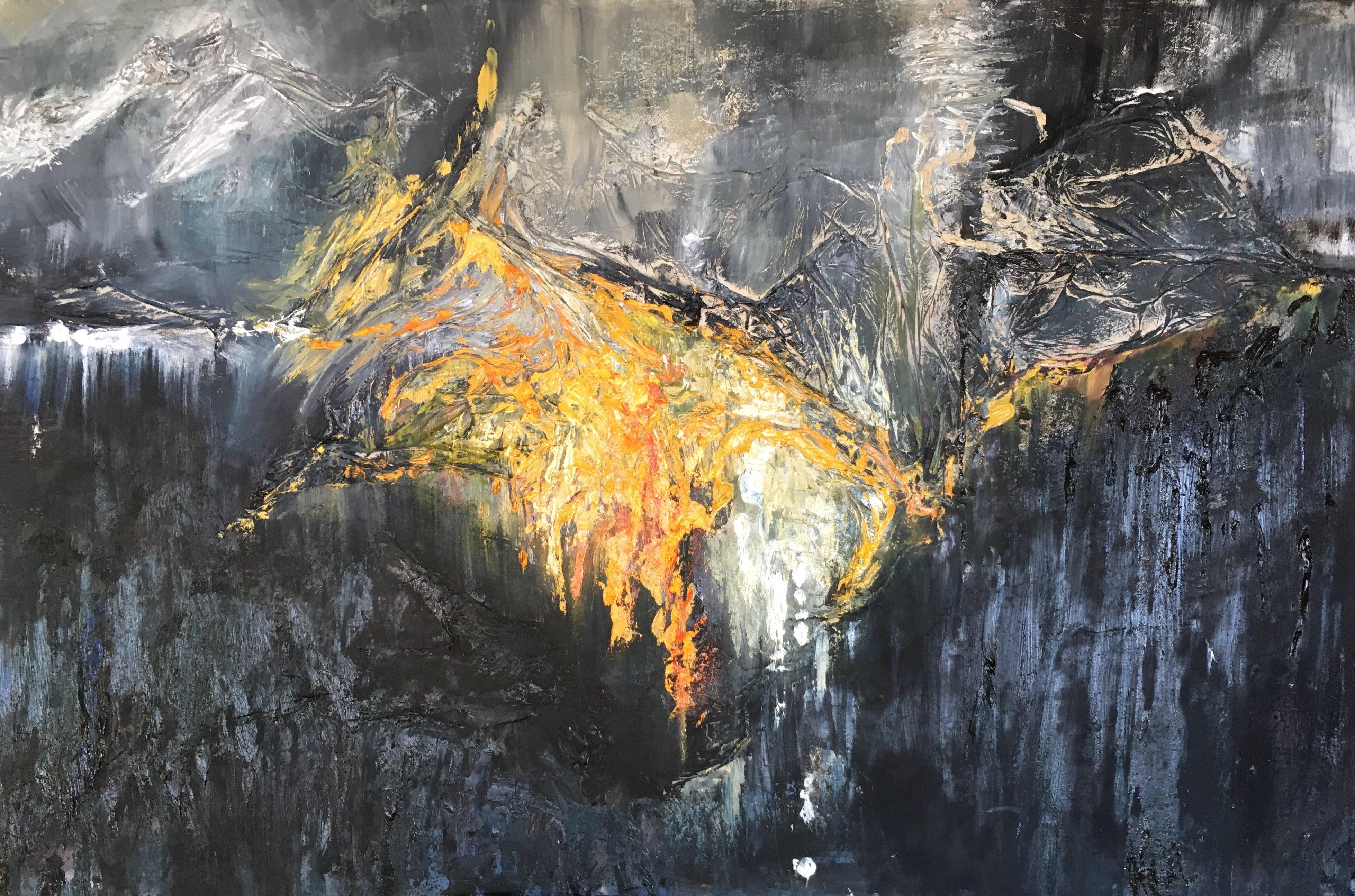 Abstrait #47 – Huile sur toile – H100 cm * L150 cm