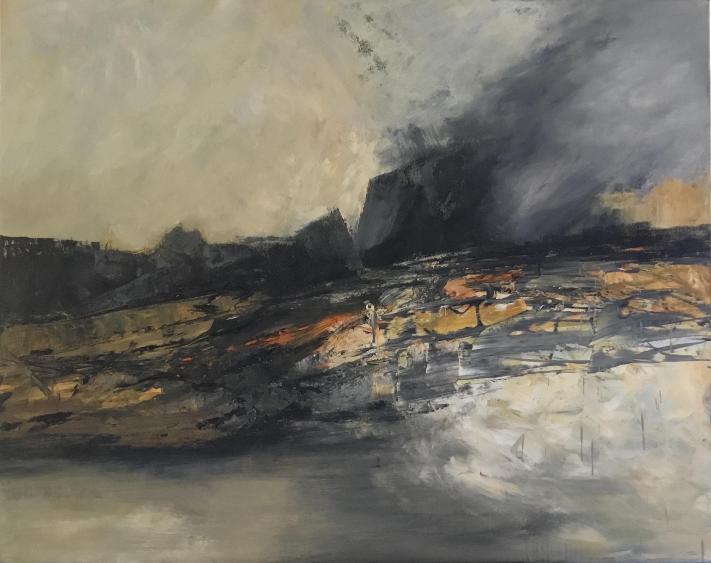 Abstrait #51 – Huile sur toile – H120 cm * L140 cm
