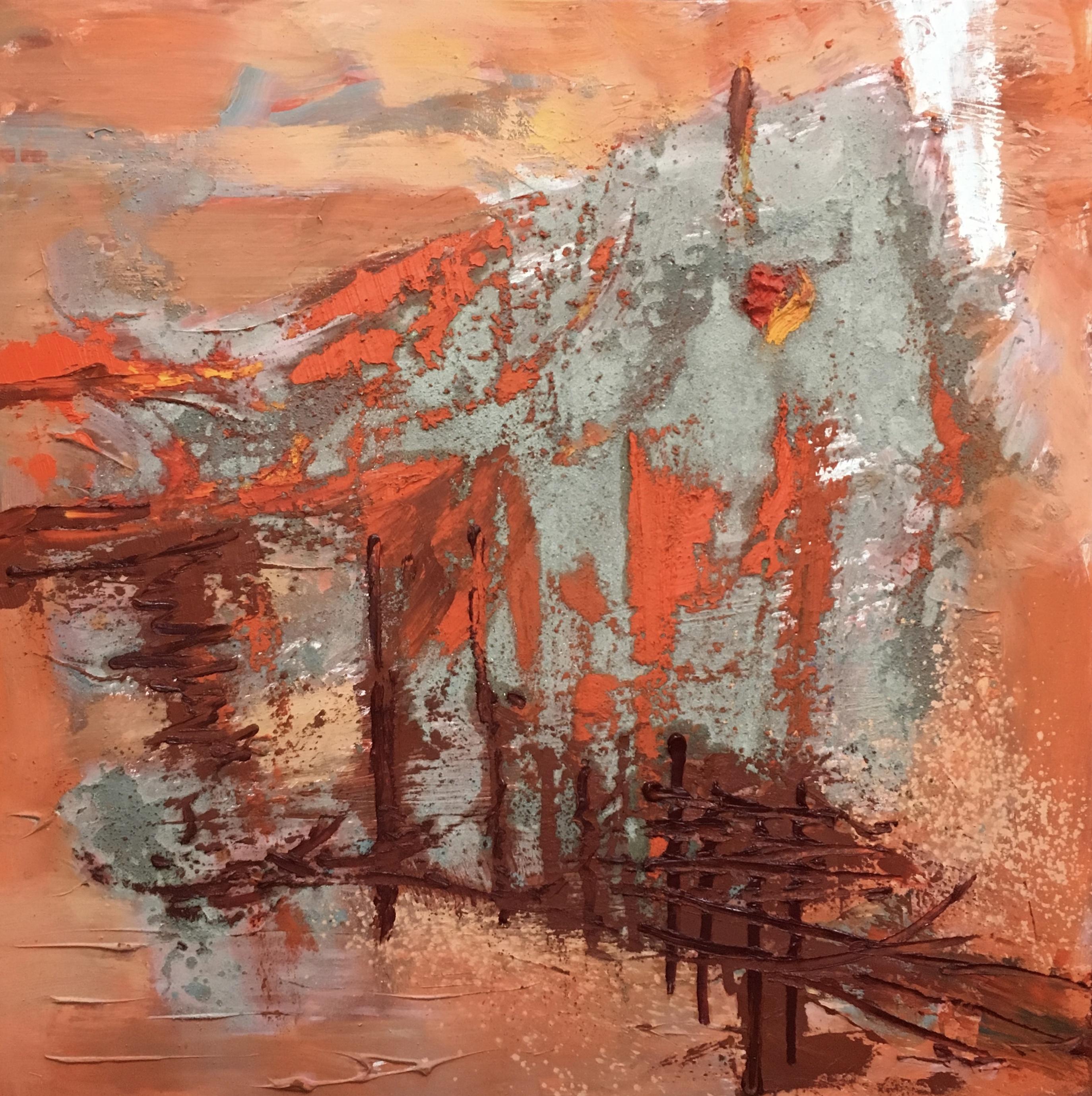 Abstrait #66 – Huile sur toile – H100 cm * L100 cm