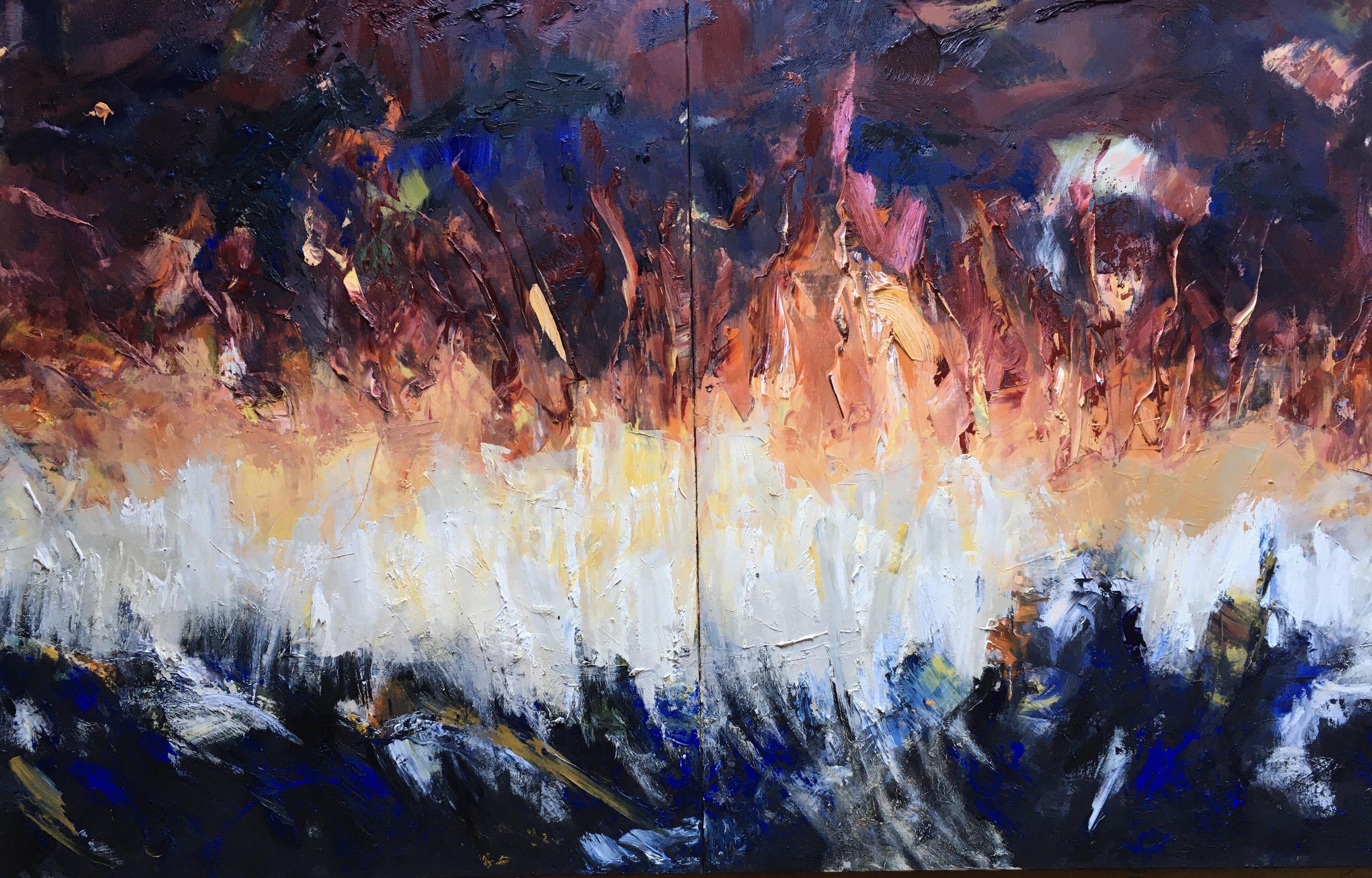 Abstrait #72 – Huile sur toile – H150 cm * L200