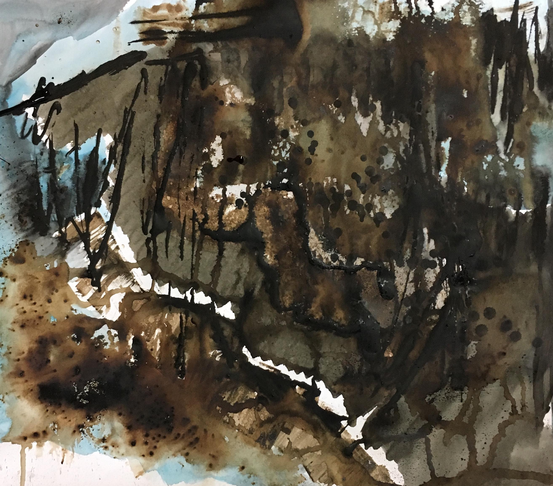 Petit format #4 - Acrylique et encre sur papier – H55 cm * L50 cm
