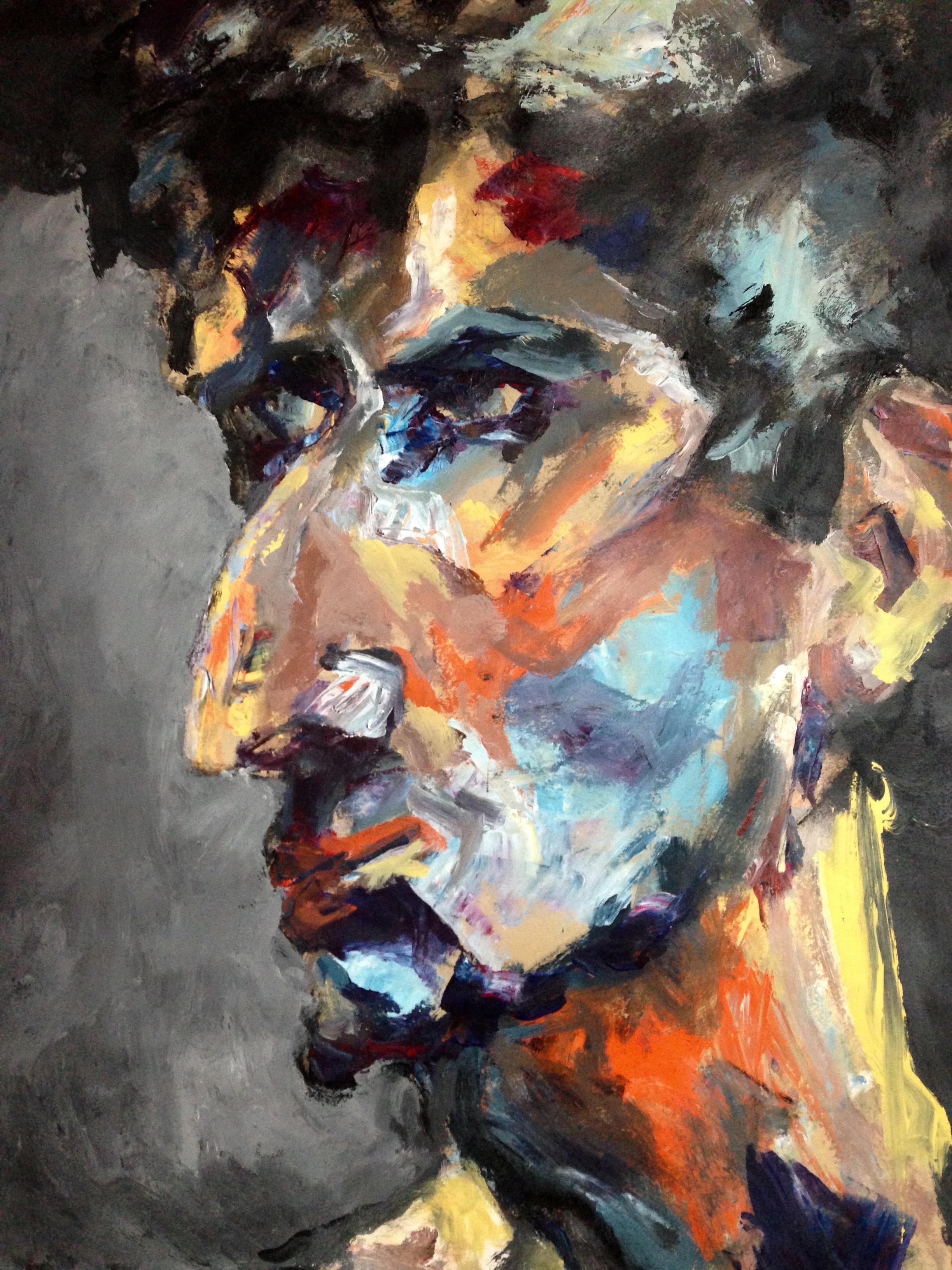 Portrait #30 - Acrylique sur papier – H110 cm * L80 cm