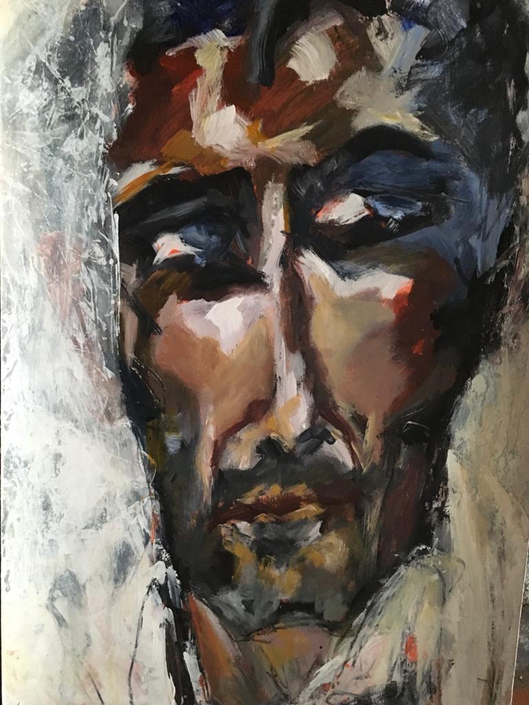 Portrait #33 - Acrylique sur papier – H110 cm * L80 cm