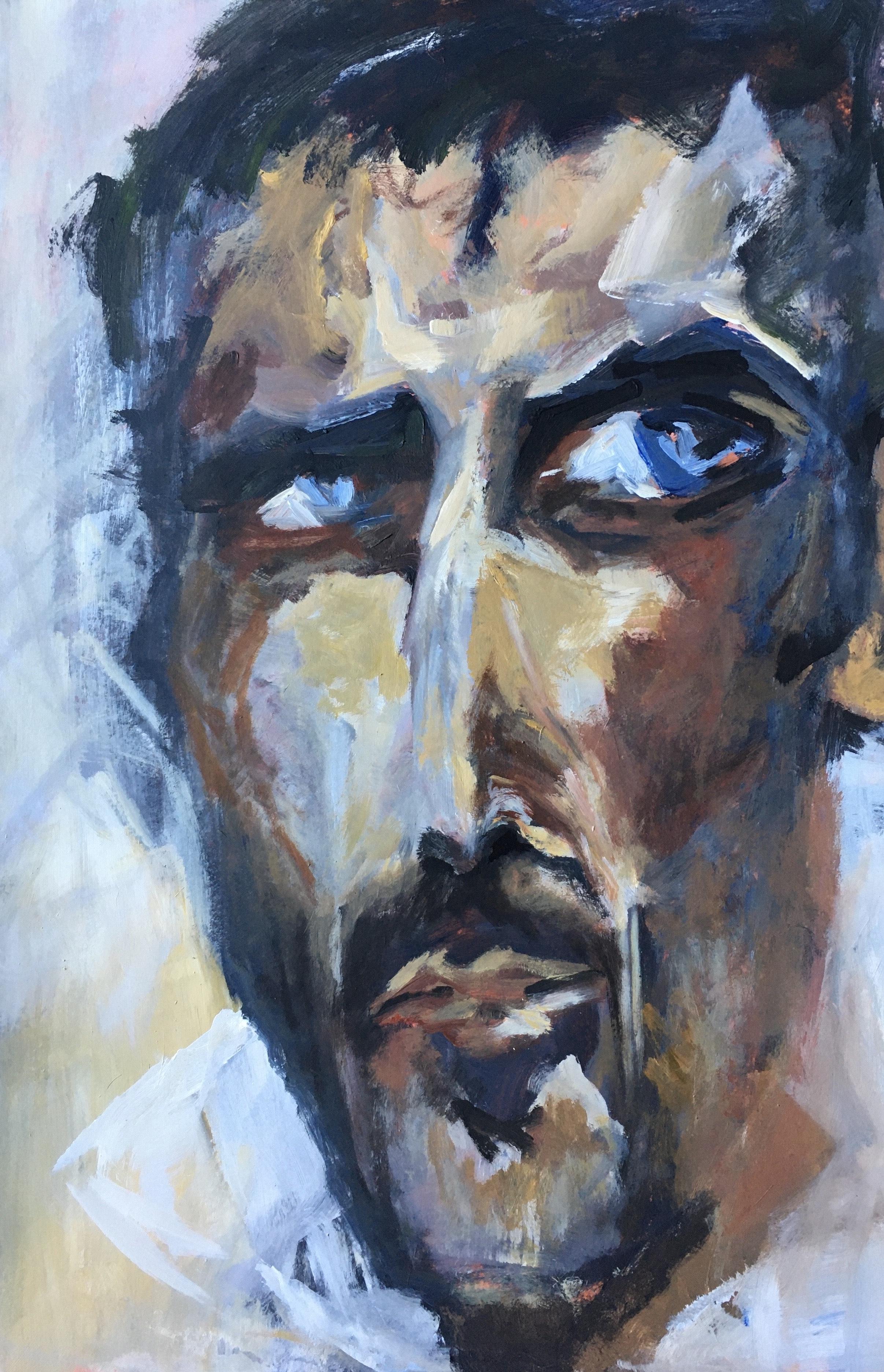 Portrait #34 - Acrylique sur papier – H110 cm * L80 cm