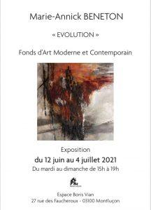 Carton Invitation Exposition aux Fonds d'art moderne et contemporain de Montluçon